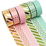 K-LIMIT 6er Set Washi Tape Dekoband Masking Tape Klebeband Scrapbooking DIY 9156