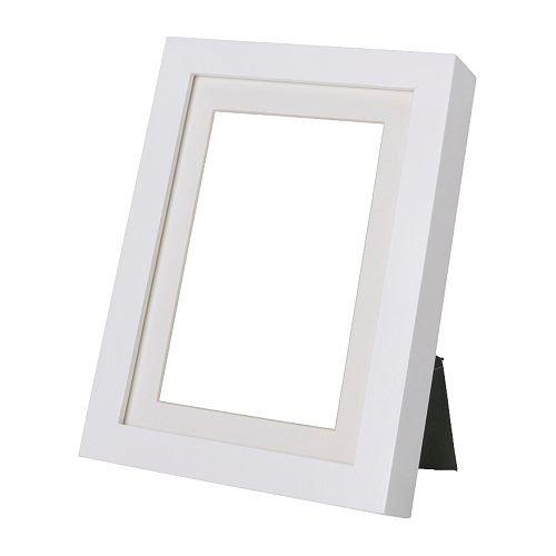 IKEA RIBBA Rahmen in weiß; (13x18cm)