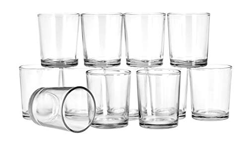 VBS Großhandelspackung 12er-Pack Teelichtgläser klar Ø 4,5cm, Höhe 6,3cm Teelichter