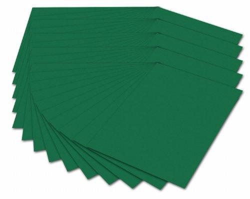 folia 614/50 58 - Fotokarton DIN A4, 300 g/qm, 50 Blatt, tannengrün - zum Basteln und kreativen Gestalten von Karten, Fensterbildern und für Scrapbooking