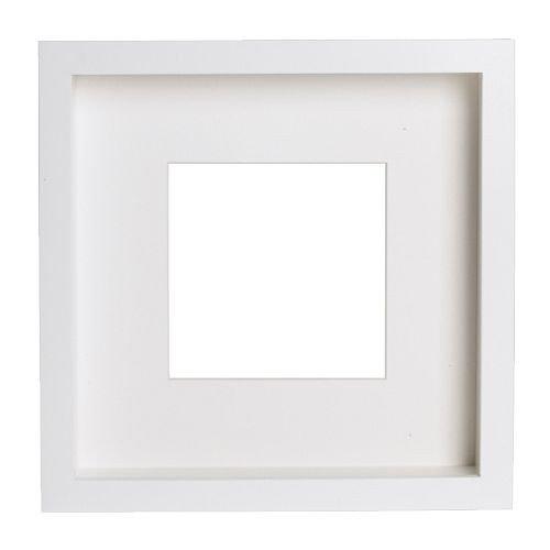 Unbekannt 2 x RIBBA Bilderrahmen, Weiß, 23 x 23 x 4,5 cm, Motiv kann auf Vorder- oder Rückseite des extra-tiefen Rahmens platziert Werden …