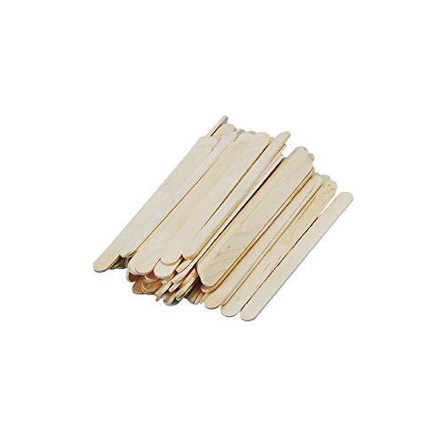 Rayher 6135331 Mini-Bastelhölzer, 55 mm x 5 mm, 300 Stück, natur, Holzspatel zum Basteln, Holzstiele