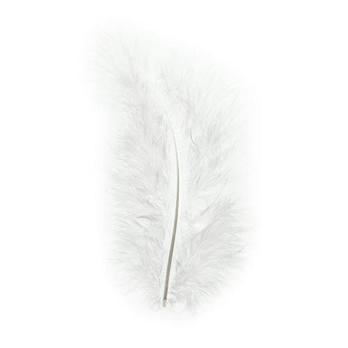 Premium Flausch-Federn, 10g (entspricht ca. 90 Federn), jeweils ca. 8 bis 10 cm lang (weiß)
