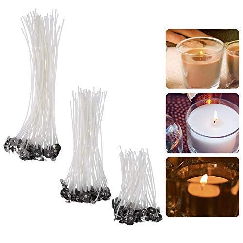 YeeStone Kerzendocht 150 Stück Kerzendochte Kerzen Dochte Candle Wick in 3 Verschiedenen Größen - für die Kerzenherstellung, Kerze DIY (90 mm,150 mm and 200 mm)