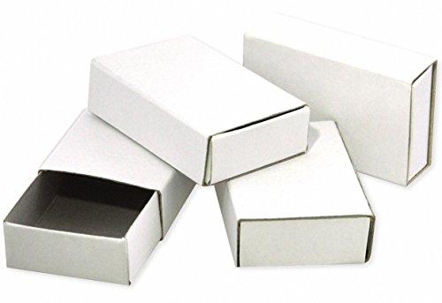 Playbox Streichholzschachteln, 55 x 35 x 15 mm, 50 Stück, Weiß