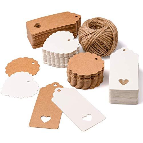 SuMile Geschenkanhänger Kraftpapier, 5, DIN A4, Naturkarton, hochwertige Qualität, Brown Natural Craft Card, Kraftkarton 170 g Qualität