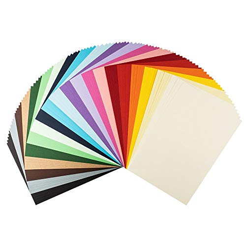 Ideen mit Herz Tonkarton | DIN A4 | 220g/m² | 20 Farben | 100 Bogen | Bastelpapier, Bastelkarton, Tonpapier, Fotokarton, buntes Papier (Bunte Farben)