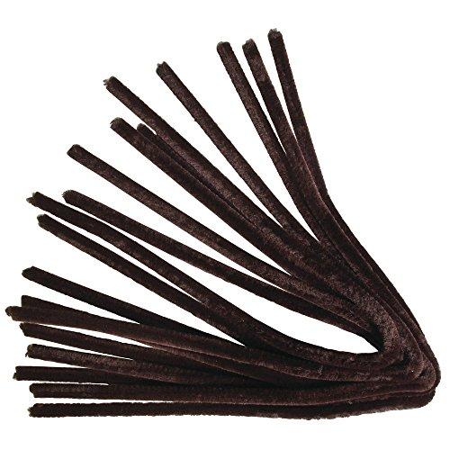 Rayher 5210605 Chenilledraht, Dunkelbraun, Länge 50 cm, Stärke 9 mm, Btl. 10 Stück, Biegeplüsch zum Formen, basteln mit Kindern, Pfeifenputzer