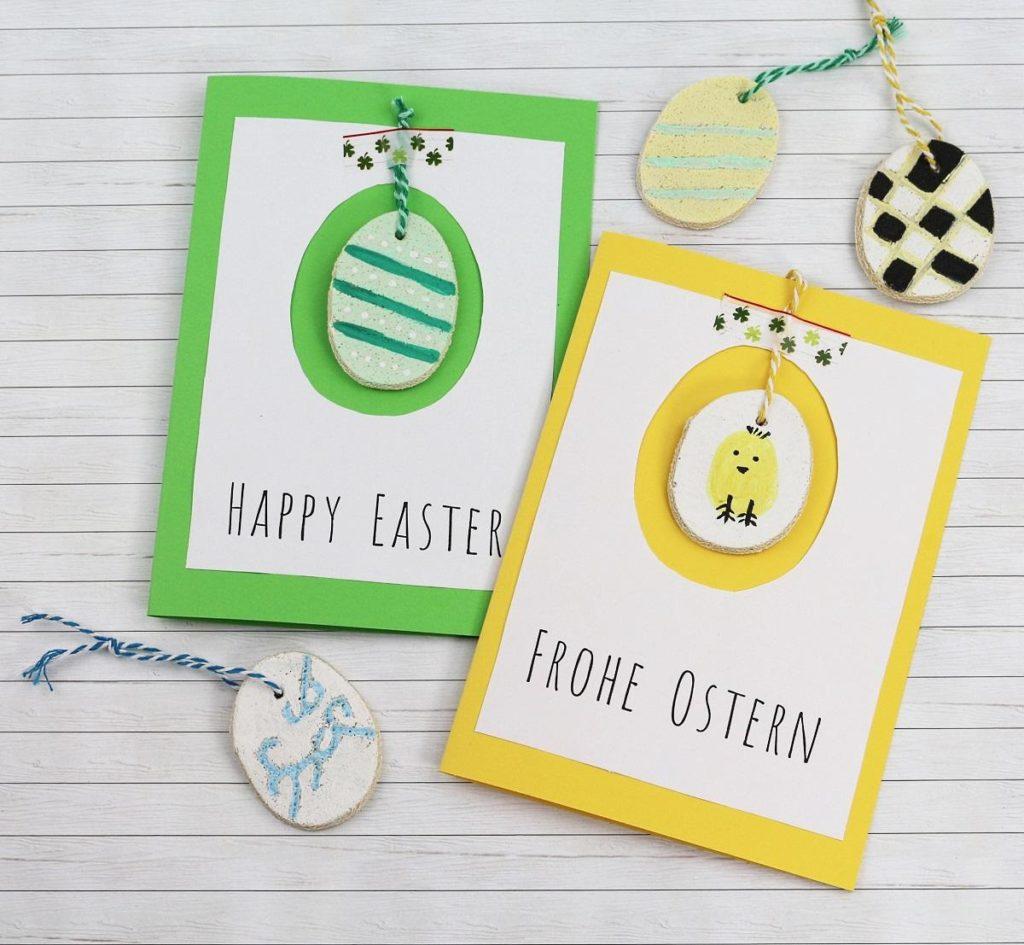 DIY Osterkarte basteln + Anhänger aus Salzteig - schöne DIY Idee zu Ostern