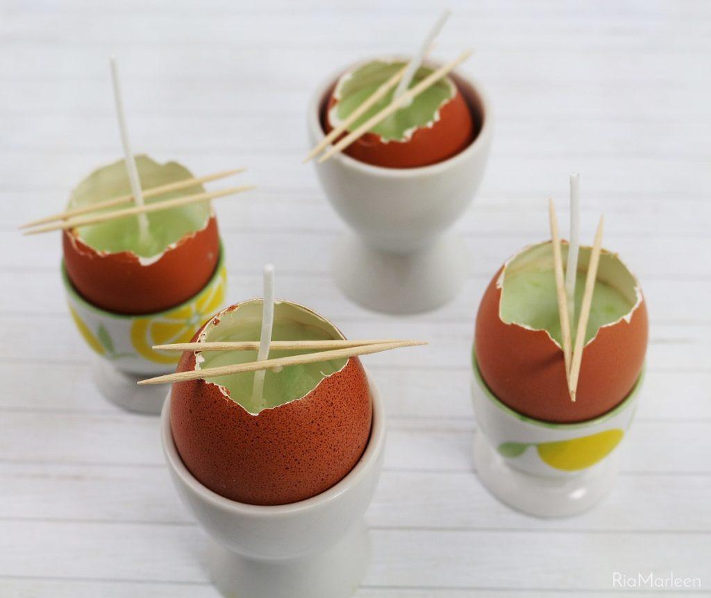 DIY Osterdeko | DIY Oster-Tischdeko selber machen | Kerzeneier herstellen | Upcycling Eierschalen