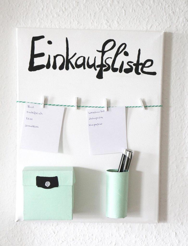 DIY Einkaufslisten-Organizer | Einkaufszettel-Organizer | DIY Haushalt
