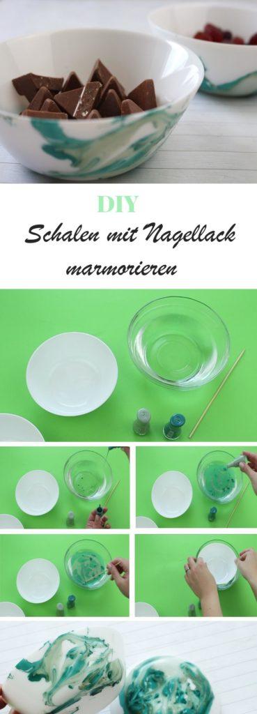 DIY Schalen mit Nagellack mamorieren | DIY Deko | Geschirr mamorieren