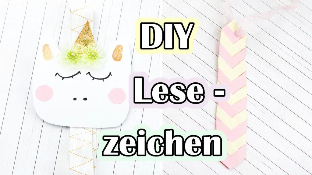 DIY Lesezeichen basteln - Video Anleitung