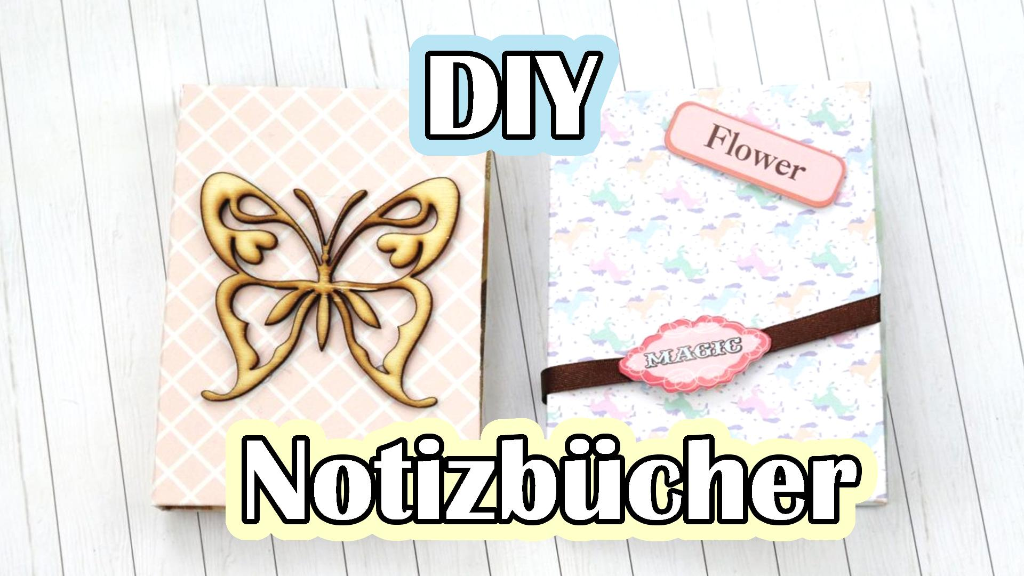 DIY Notizbücher basteln - Video Anleitung