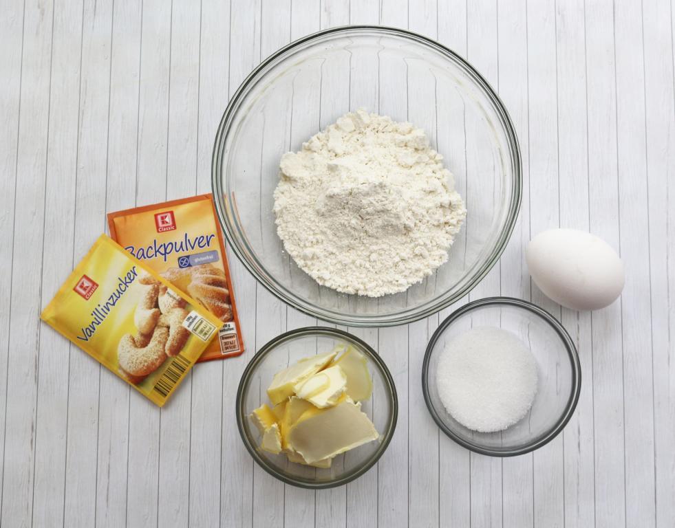 Kuchen im Waffelbecher Zutaten