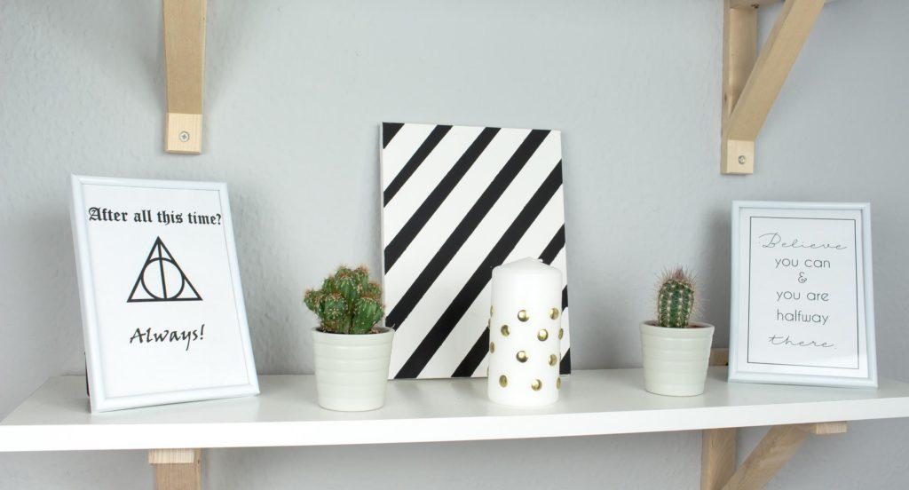 3 sch ne diy deko ideen unter 1 euro basteln. Black Bedroom Furniture Sets. Home Design Ideas