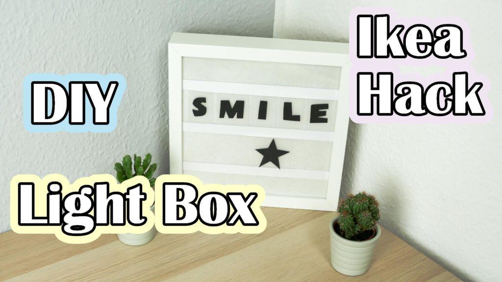 DIY Lightbox basteln Ikea Hack - Video Anleitung