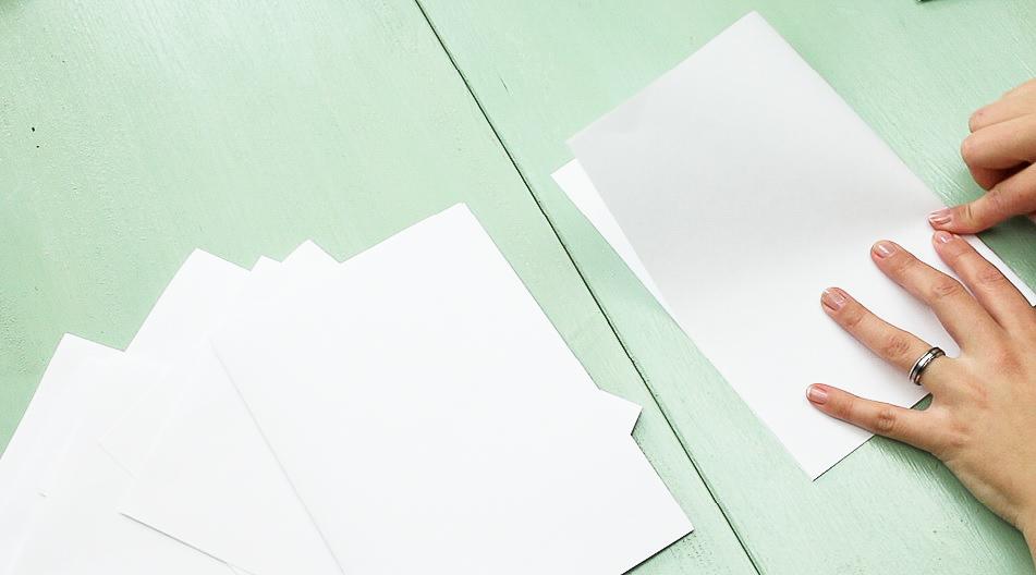 DIY Notizbuch basteln - Schritt 1