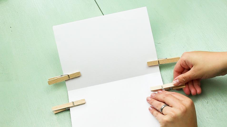 DIY Notizbuch basteln - Schritt 3