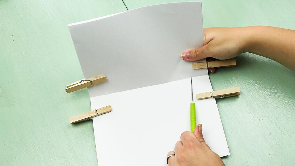 DIY Notizbuch basteln - Schritt 4