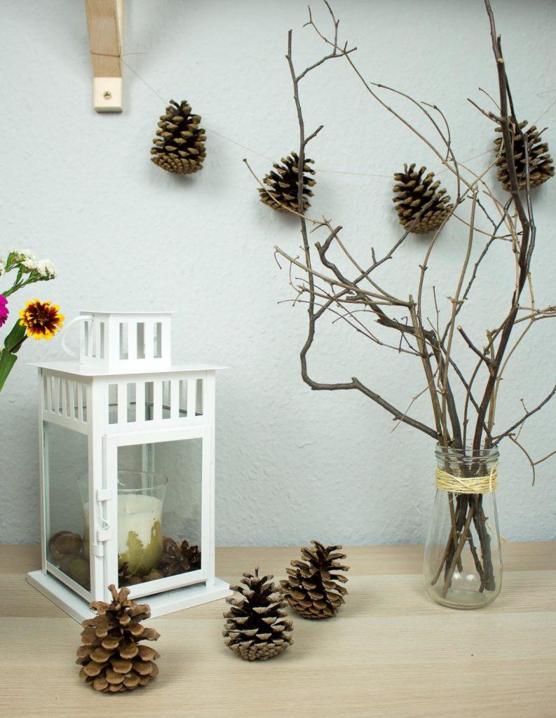 DIY Herbstdeko mit Naturmaterialien in unter 5 Minuten basteln