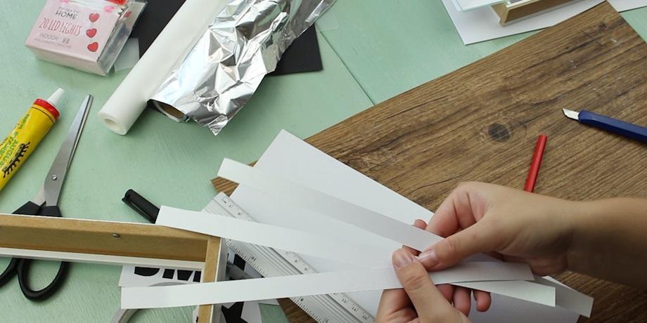 Lightbox basteln - Schritt 2