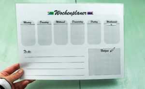DIY Wochenplaner basteln + kostenloses Printable