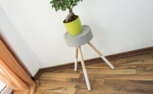 DIY Idee: Beistelltisch / Hocker aus Beton bauen