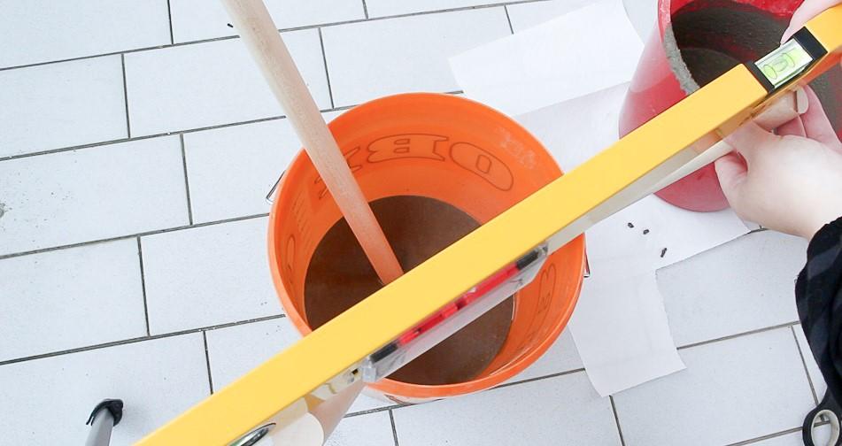 DIY Beistelltisch aus Beton basteln - Schritt 5