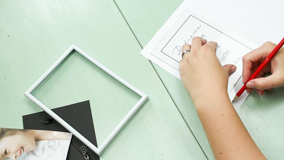 DIY Bilderrahmen Wandbilder basteln - Schritt 1