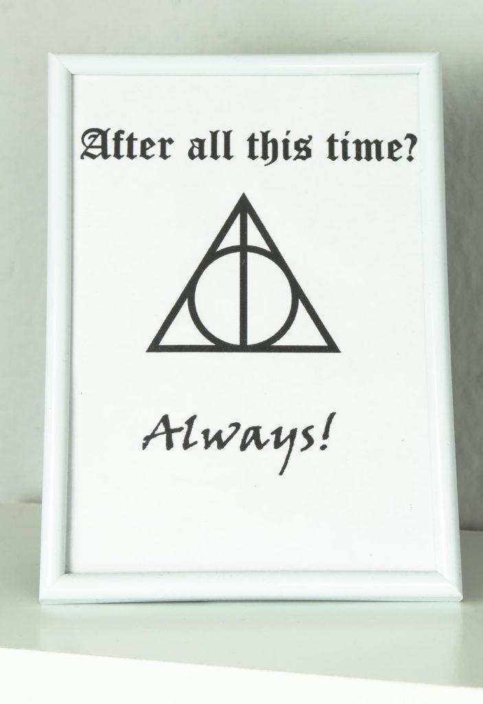 DIY Bilderrahmen Wandbilder basteln- Harry Potter Spruch