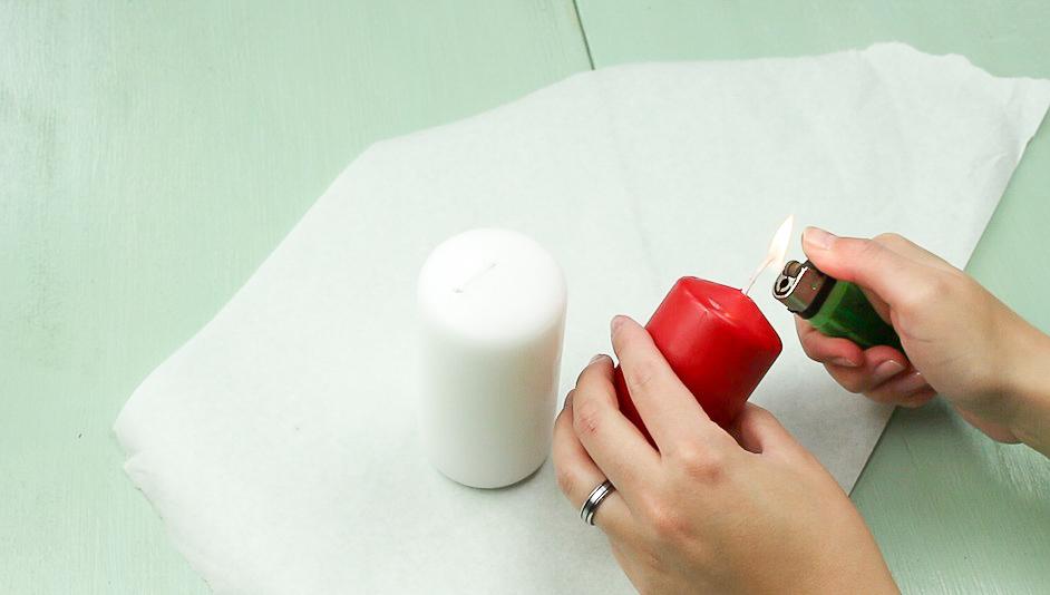DIY Blutige Kerze basteln - Schritt 1