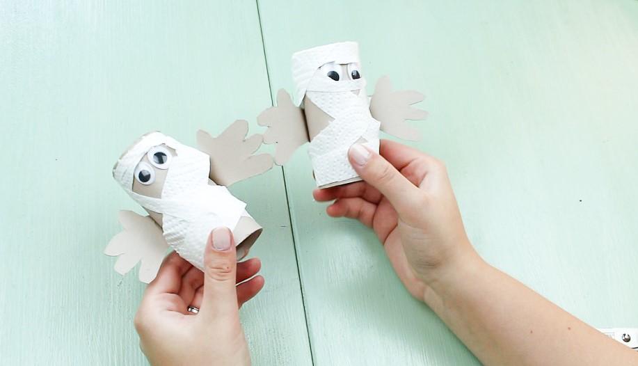 DIY Halloween Mumie basteln - Schritt 6