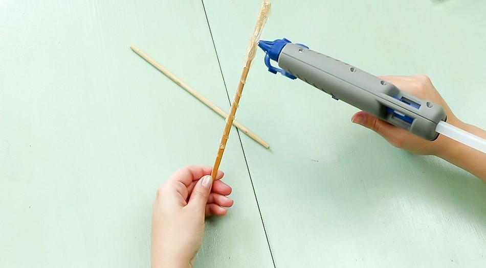DIY Harry Potter Zauberstab basteln - Schritt 1