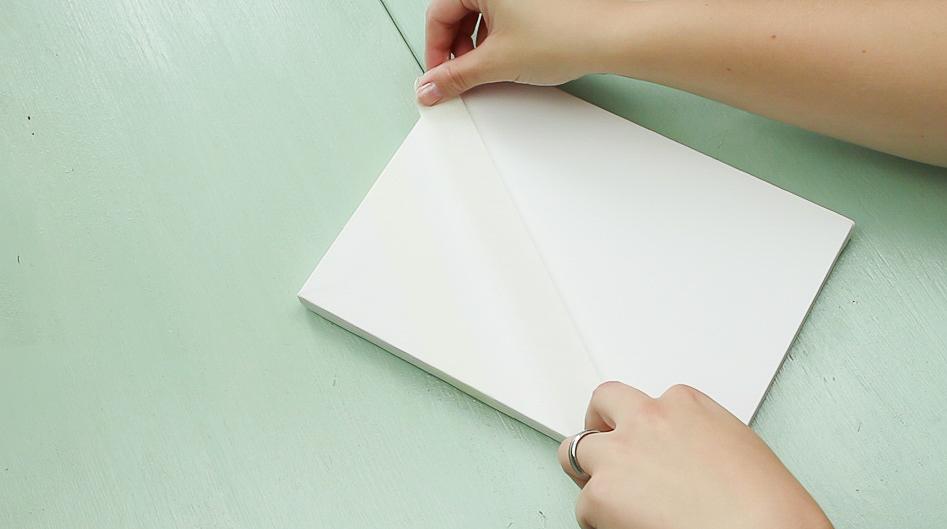 DIY Leinwand Wandbild basteln - Schritt 1