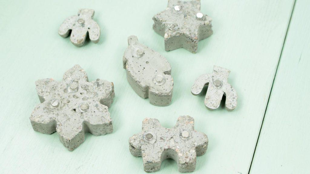 DIY Magnete aus Beton basteln - Schritt 5