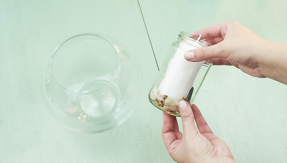 DIY Wasserkerze basteln Variante 1 - Schritt 1