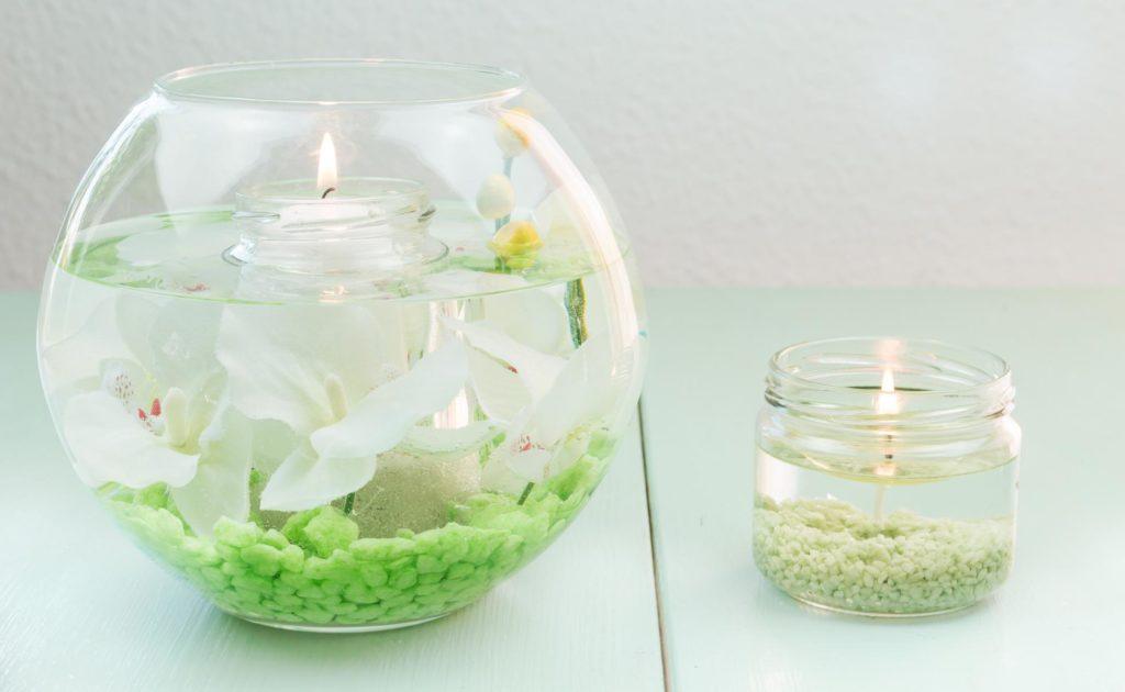 DIY Wasserkerzen basteln - schöne Dekoration für eure Wohnung