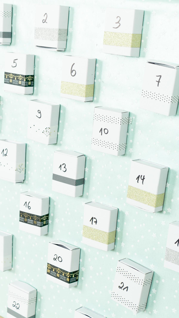 DIY Adventskalender mit Streichholzschachteln basteln - einfach und günstig