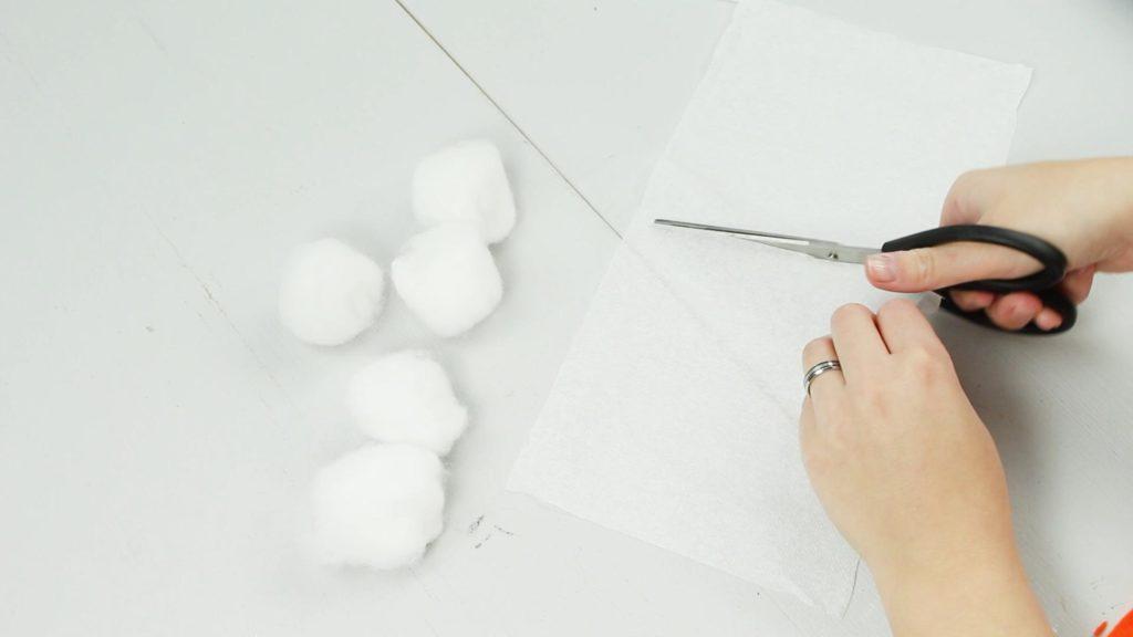DIY Miniatur Schneemann basteln - Schritt 1