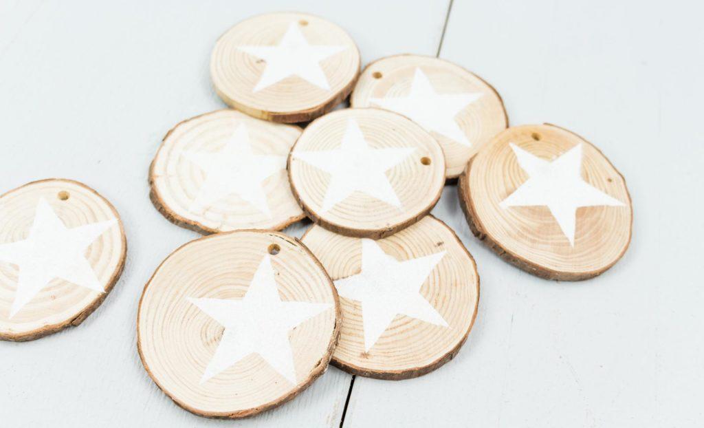 DIY Holzscheiben Sterne - Schritt 2