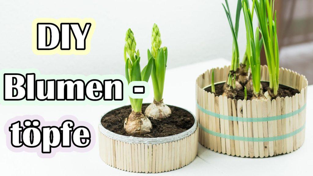 Blumentöpfe aus Dosen basteln - Video Anleitung