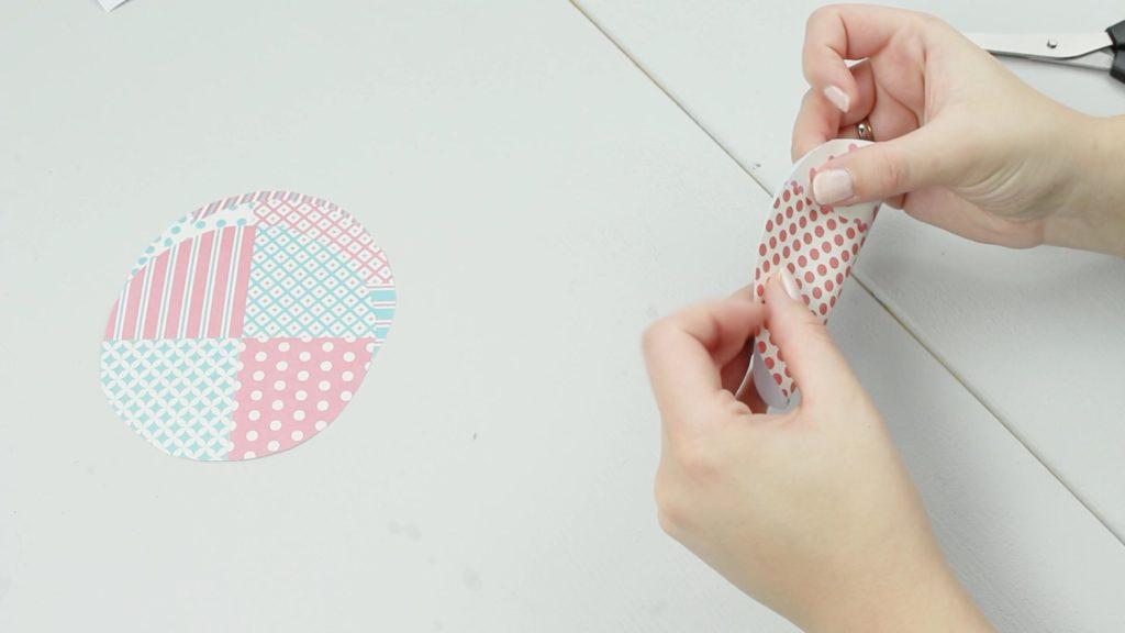 DIY Glückskekse aus Papier basteln - Schritt 3