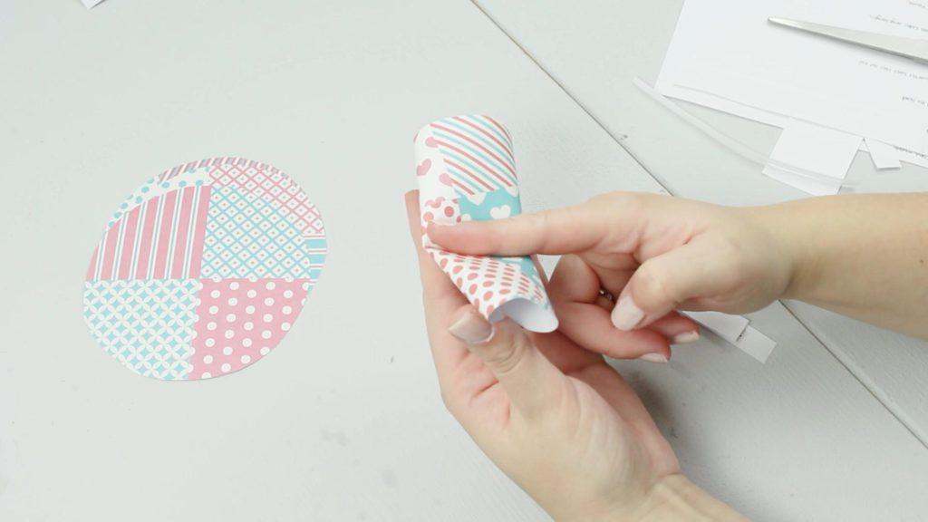 DIY Glückskekse aus Papier basteln - Schritt 4