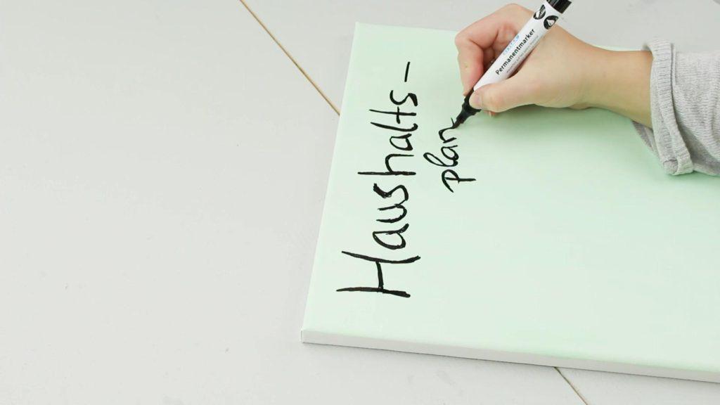 DIY Haushaltsplaner basteln - Schritt 4