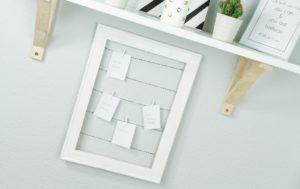 DIY Pinnwand aus Holzrahmen basteln