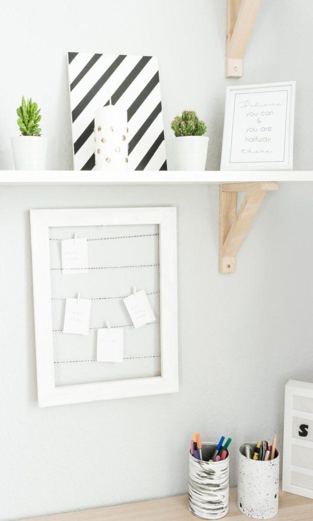 DIY Pinnwand aus Holzrahmen basteln - einfache und günstige Upcycling Idee für deinen Haushalt