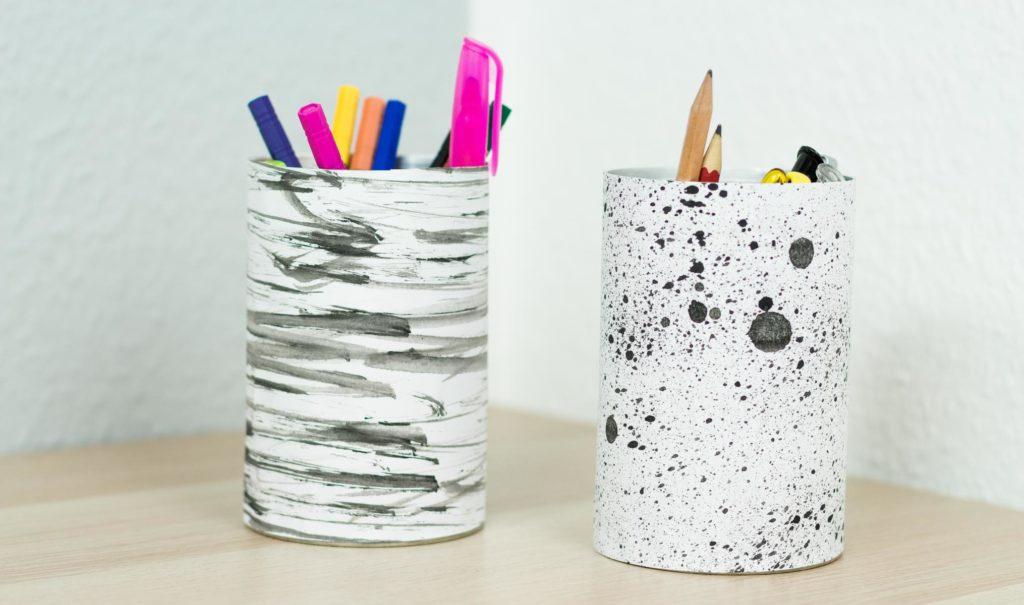 Upcycling Idee: DIY Stiftehalter aus Dosen basteln