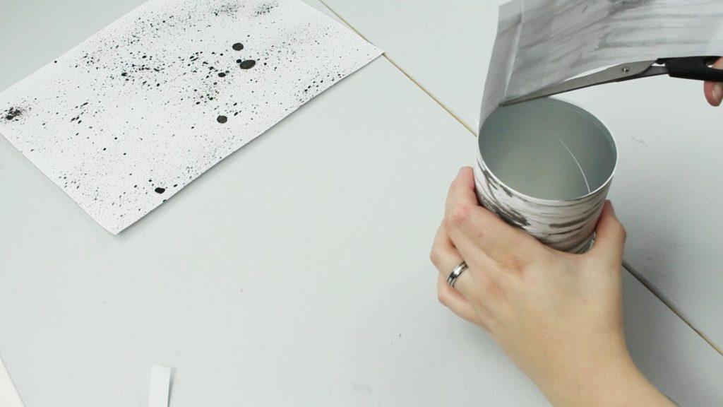 DIY Stiftehalter aus Dosen basteln - Schritt 3