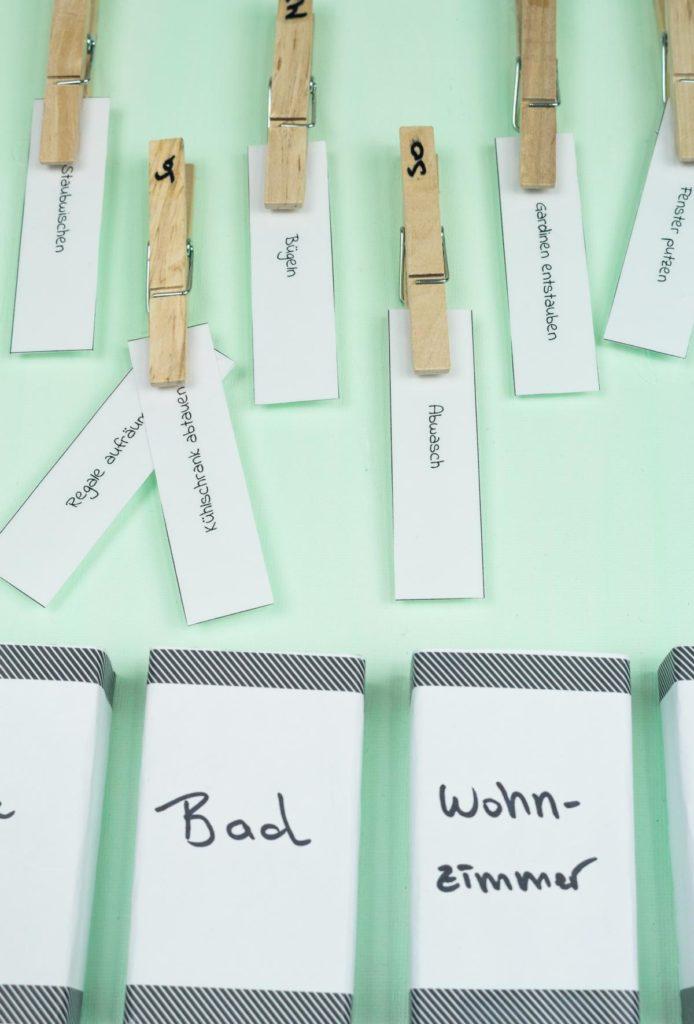 DIY Haushaltsplaner selber machen - einfache Haushaltsorganisation - Haushaltsorganizer - Putzplan basteln